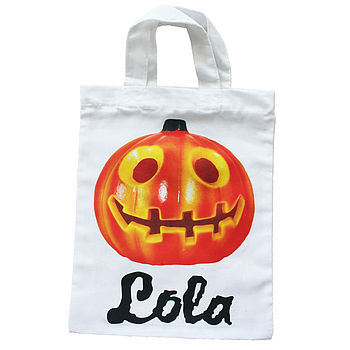 Personalised Child's Trick Or Treat Bags