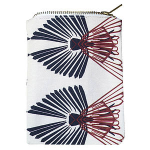 Wings Zipped Pouch - make-up & wash bags