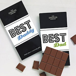 Best Dad & Daddy Chocolate Bar - gifts from younger children