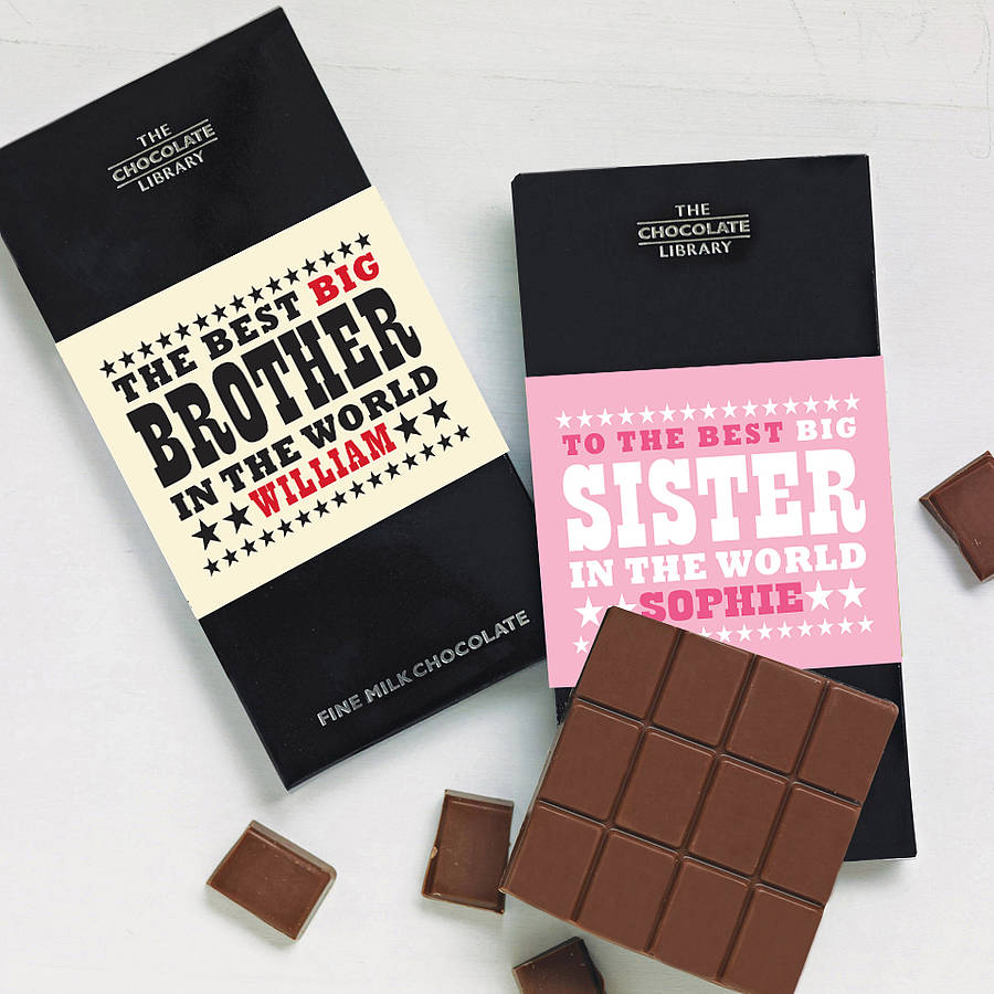 Good Wedding Gift For Brother : original_big-brother-little-brother-chocolate-bar.jpg