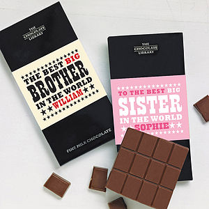 Brother And Sister Chocolate Bars - chocolates & confectionery