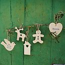 Personalised Birch Wood Christmas Decoration