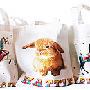 Personalised Baby Animals Cotton Party Bags
