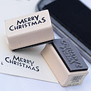 Rubber Stamp - 'Merry Christmas'