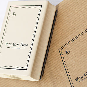 Rubber Stamp - 'With Love From' - finishing touches