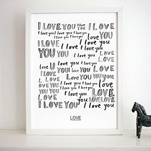 'Love Is The Best Medicine' Print - prints for christmas