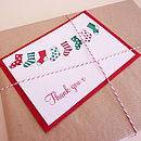 10 Christmas Stocking Thank You Cards