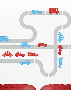 Road Block Wall Stickers