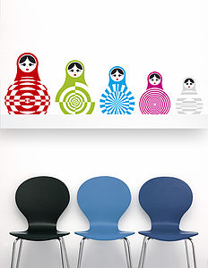 Optical Dollies Wall Sticker - wall stickers