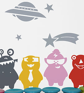 Jelly Monsters Wall Sticker - home accessories