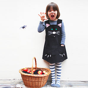 Girls Cat Dress Halloween Costume - fancy dress