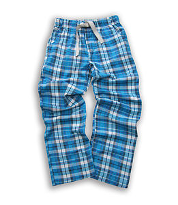 Teenage Check Woven Brushed Lounge Pants - children's clothing