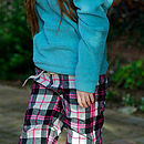Teenage Check Woven Lounge Pants