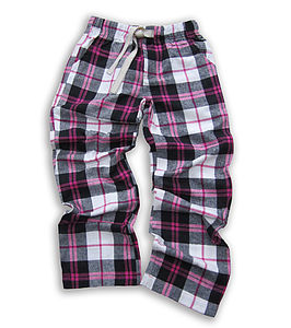 Teenage Check Woven Lounge Pants - children's clothing