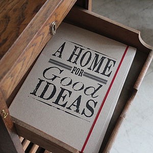 'Good Ideas' Letterpress Folder - stationery & desk accessories
