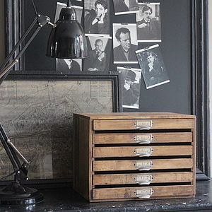 Wooden Filing Drawers - off to university
