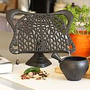 Cast Iron Tiffany Cook Book Stand in Black