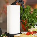 Cast Iron Horta Kitchen Roll Holder in Black