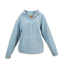 Teenage Hooded Warm Fleece Top - women's fashion