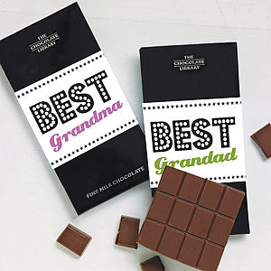 Granny & Grandad Chocolate Bar - gifts for grandmothers