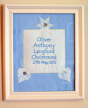 Personalised Christening Picture