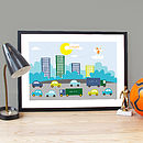 Personalised 'City Traffic' Poster