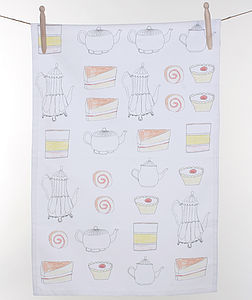 Tea And Cake Tea Towel - tea towels