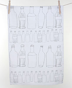 Bottles Tea Towel - tea towels