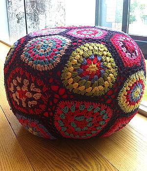 Hand Crocheted Pouffe