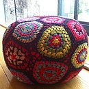 Hand Crocheted Pouffe