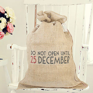 Personalised Christmas Sack - ribbon & wrap