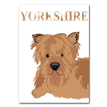 Yorkshire Terrier Dog Fine Art Print