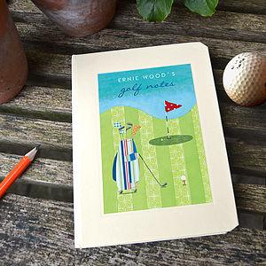 Personalised Golf Notebook