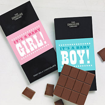 new baby boy girl congratulations chocolate card
