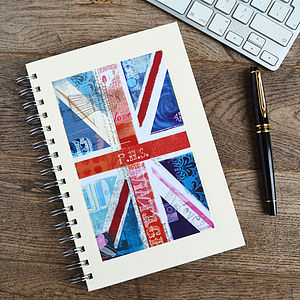 Personalised Union Jack Notebook - shop by room