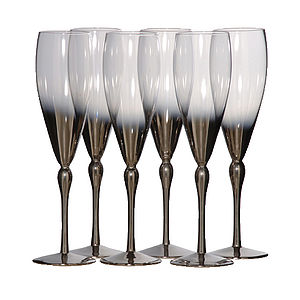 Silver Plated Flute Glass - drink & barware