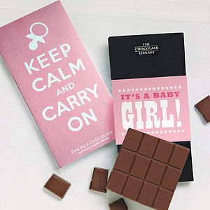 New Baby Girl Keep Calm Gift Set - chocolates & confectionery