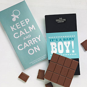New Baby Boy Keep Calm Gift Set - chocolates & confectionery