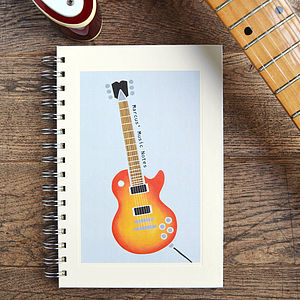 Personalised Music Notebook - view all gifts for him