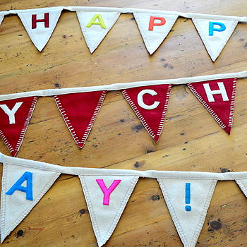 Reversible Christmas & Birthday Felt Bunting