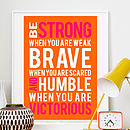 Inspirational Typographic Print Or Canvas