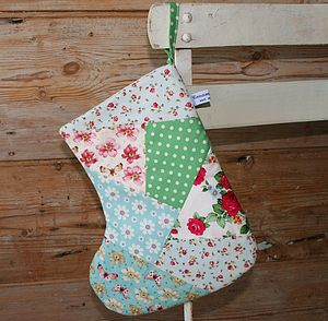 Floral Patchwork Christmas Stocking