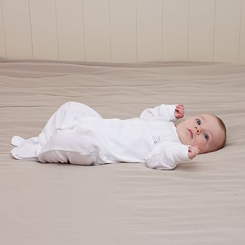 Pair Of Organic Baby Sleepsuits