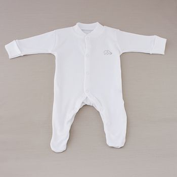 Organic cotton baby sleepsuit