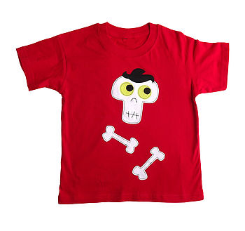 Boys Halloween Skeleton T Shirt