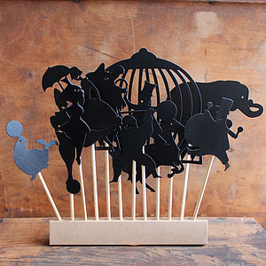 Set Of 11 Circus Shadow Figures - toys & games