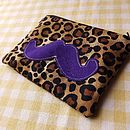 Leopard Print Moustache Coin Purse