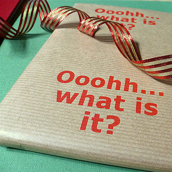 'Ooohh… What Is It?' Handmade Wrapping Paper