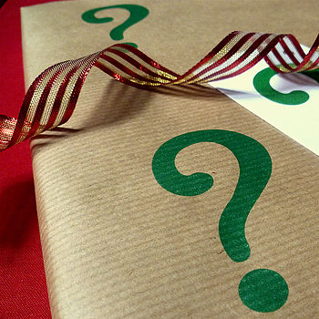 'Question Mark' Handmade Wrapping Paper