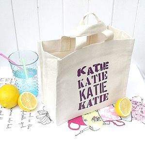 Personalised 'Mixed Font' Square Mini Tote - bags, purses & wallets